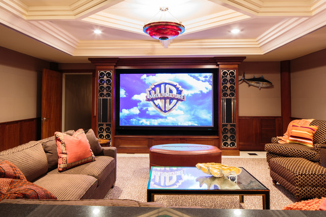Duncan Road traditional-home-theater