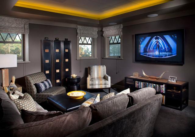 eaglis traditional home theater boston by cebula design