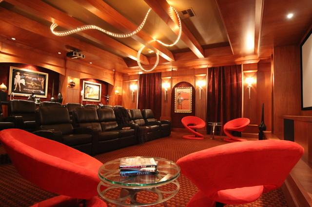 Eclectic - Killian Custom Home/ Published Florida Design Miami Magazine contemporary-home-theater