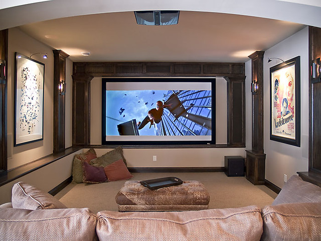 Edina Country Club Custom Designed Home modern media room