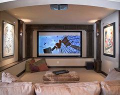 Edina Country Club Custom Designed Home modern-home-theater