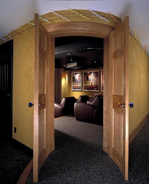 Edwina Drummond Interiors contemporary-home-theater