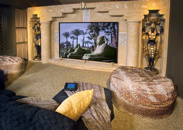 Egyptian theater mediterranean home theater