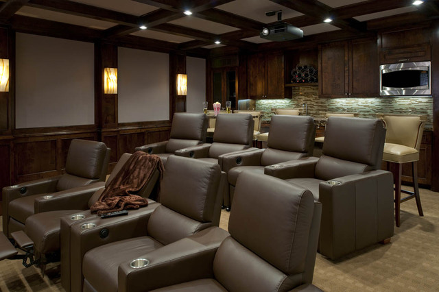 Ellen Grasso Inc transitional-home-theater
