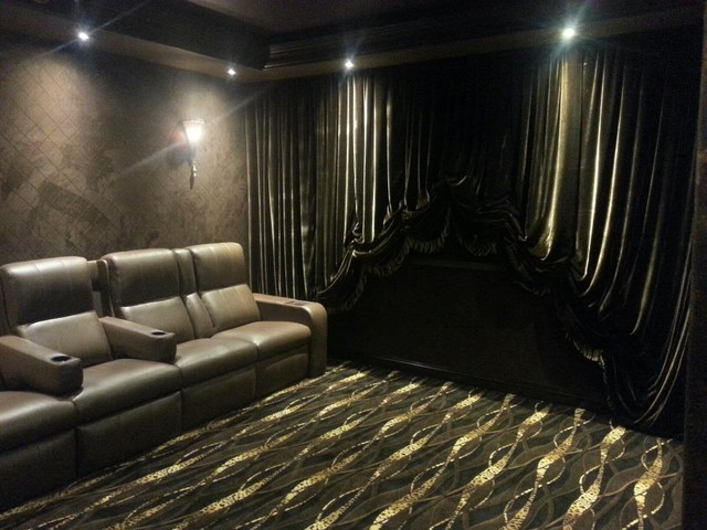 Encino Home traditional-home-theater