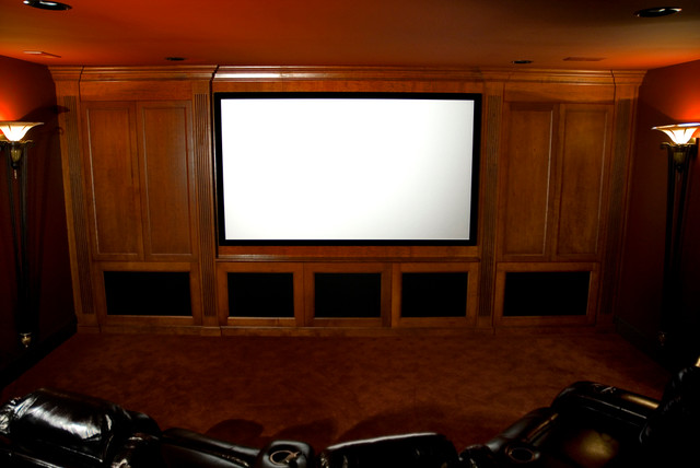 Entertainment Cabinetry and Home Bars traditional-home-theater
