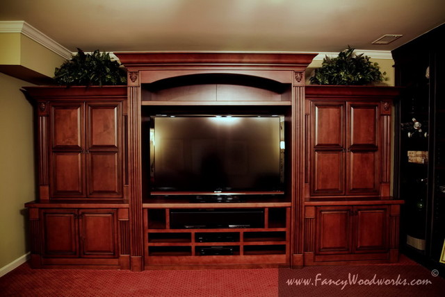Entertainment Center Traditional Home Theater: home entertainment center