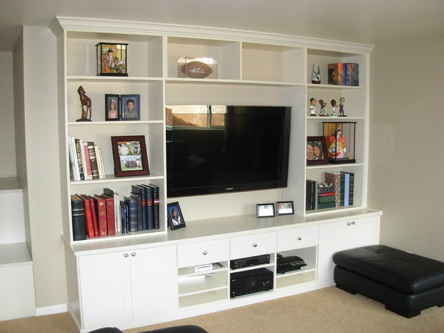 Entertainment Center In Ivory Contemporary Home