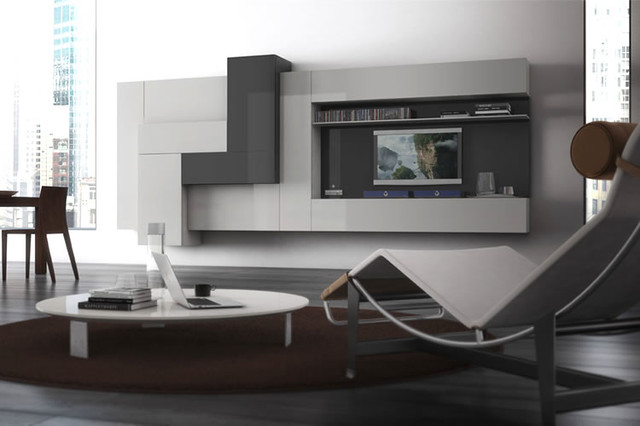 Entertainment center modern home theater