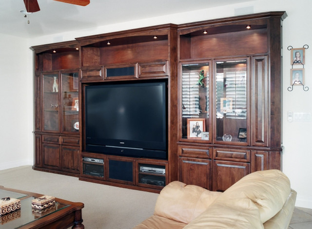 Entertainment centers built in niches transitional Home entertainment center