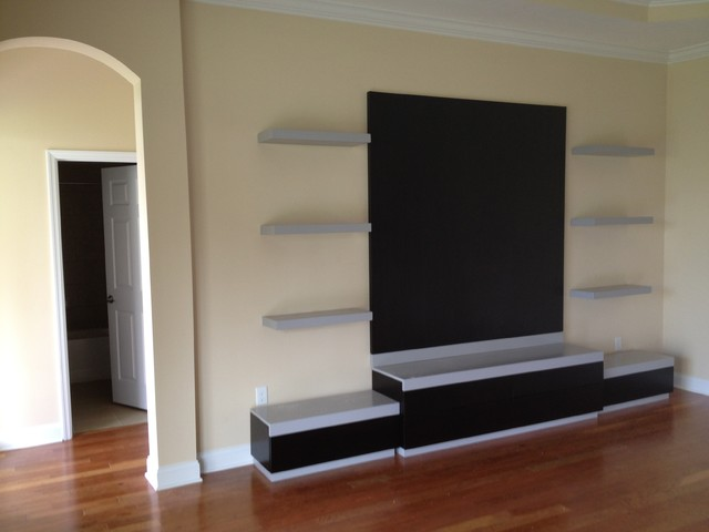 Merveilleux Entertainment Console Modern Home Theatre Tampa By Bentley