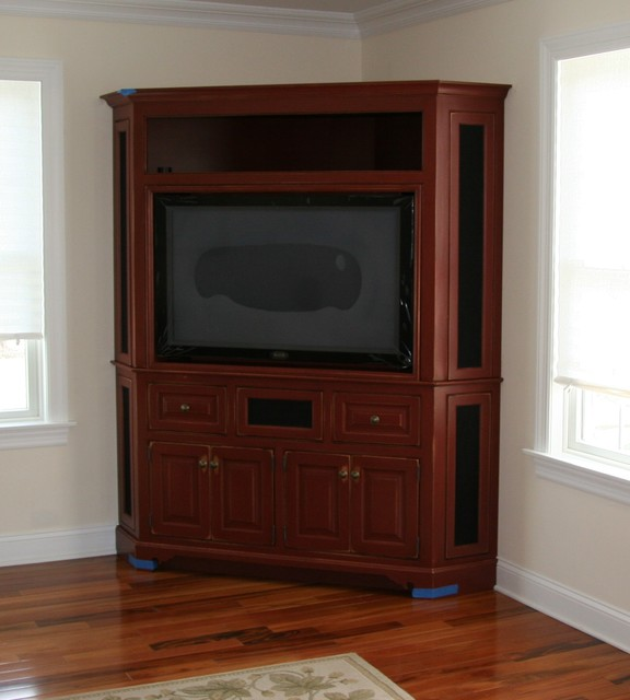 Entertainment or TV Cabinetry traditional-home-theater