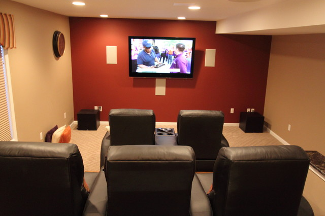 Epstine Media Room traditional-home-theater