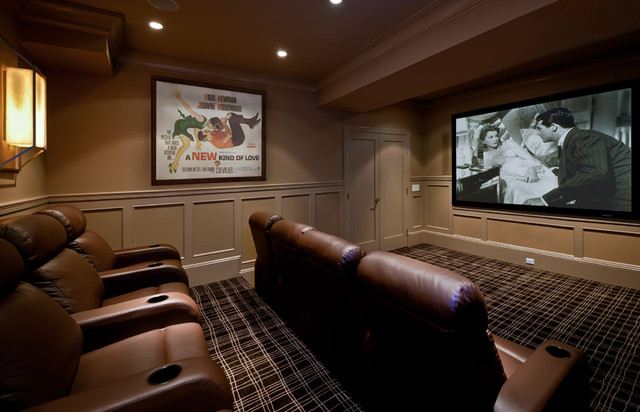 Evelyn Benatar New York Interior Design Traditional Home Theatre