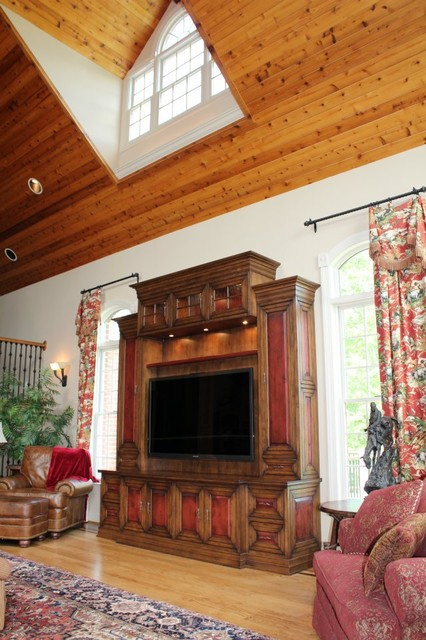 Ewing Cabinet Company - Cottage Entertaining mediterranean-home-theater