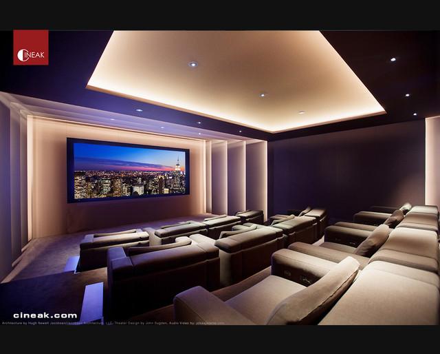 Exquisite New Media Room Featuring Cineak Strato Seats