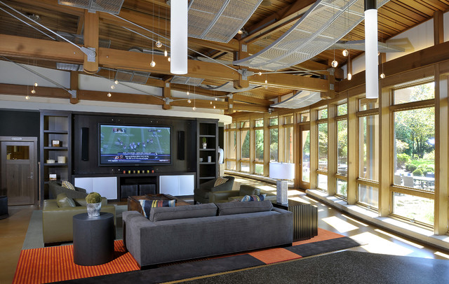 Family Recreation Barn Entertainment Area Contemporary