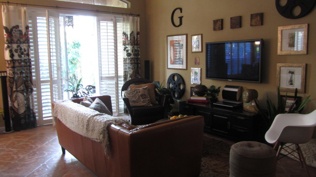 Family Room/Media eclectic-home-theater