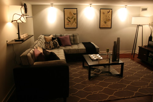 Fantastic Facelift! eclectic media room