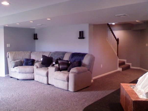 Finished Basements modern-home-theater