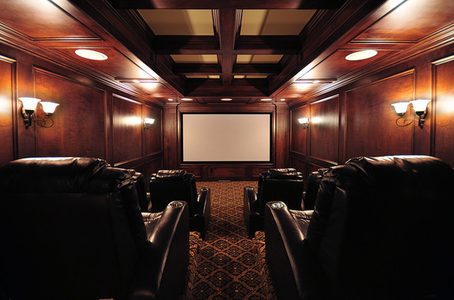 Finishing Touches Interiors By Design, Inc. modern-home-theater