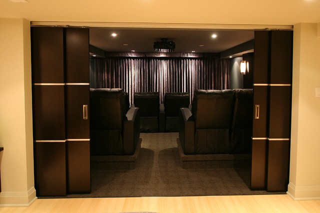 Forestvale Residence modern-home-theater