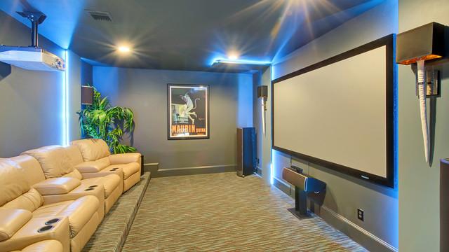 Frisco European - modern - media room - dallas - by Hensley