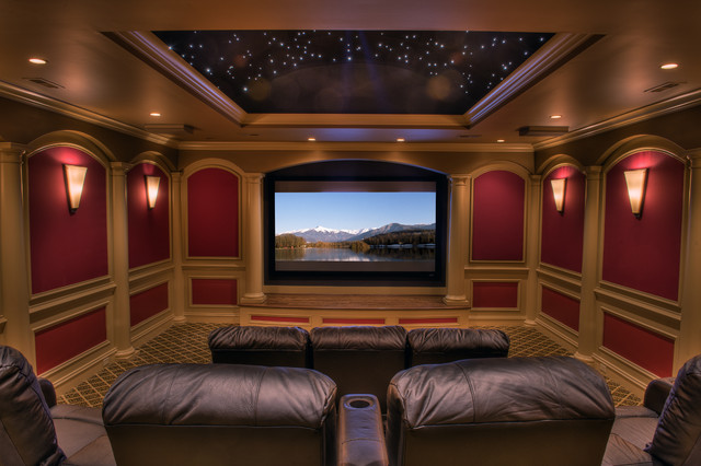 Gabriel Builders traditional-home-theater