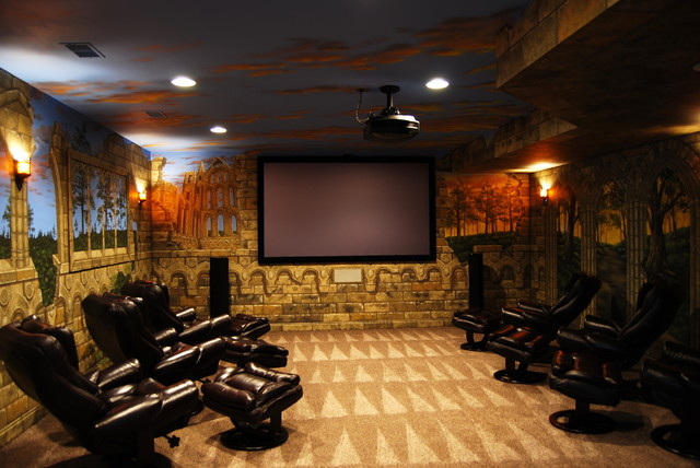 Game of Thrones Home Theater Mural by Tom Taylor of Wow