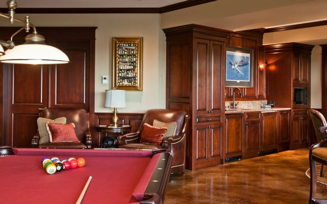 Game Room & Bar traditional-home-theater