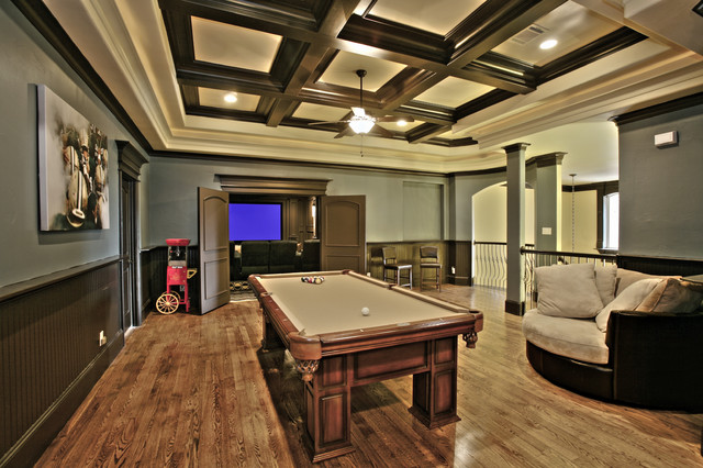 Game Room eclectic-home-theater