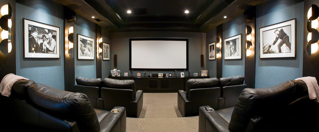 Game Rooms/Dedicated Media Rooms traditional-home-theater