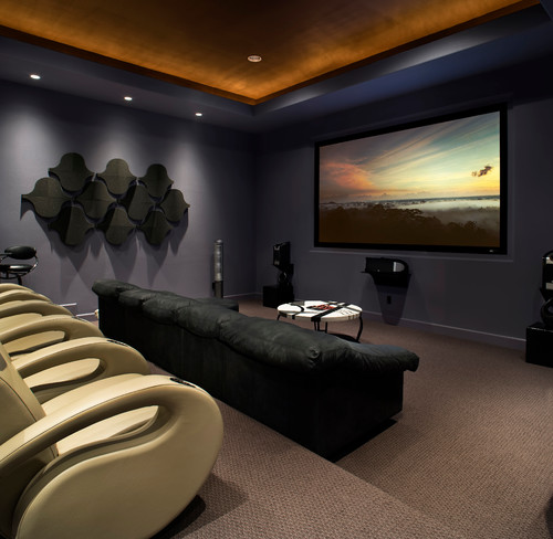 What acoustic foam is that Home theater architecture