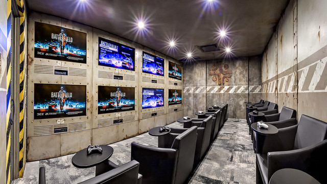 Gaming Room - Industrial - Home Theater - calgary - by K&W Audio