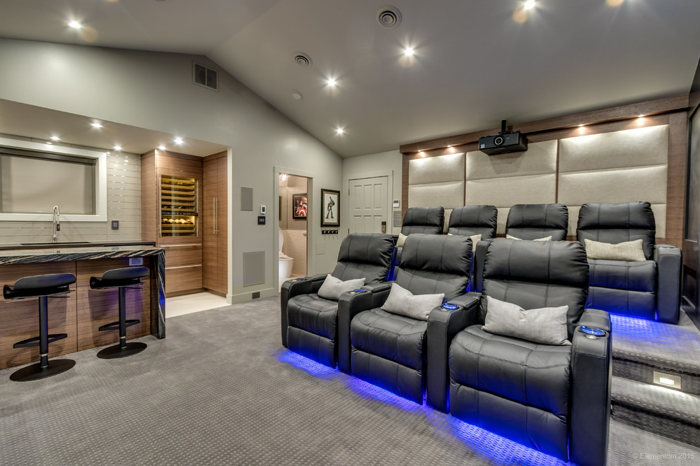 Garage Conversion North Vancouver, Garage Home Theater