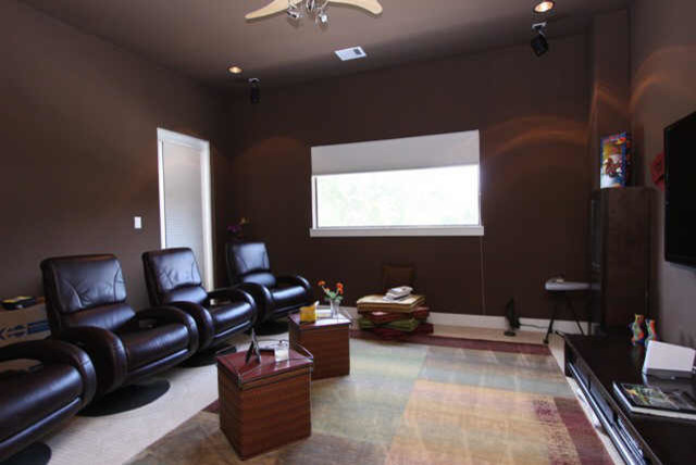 Gibson Custom Home contemporary-home-theater