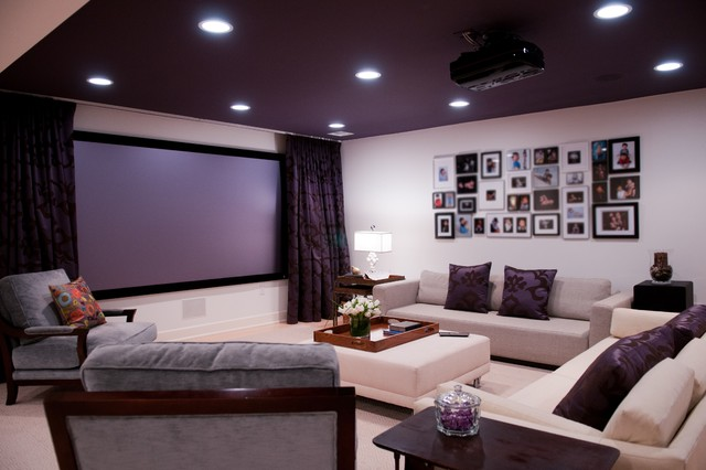 Glamorous Bold Home Theatre Contemporary Home Theater Newark