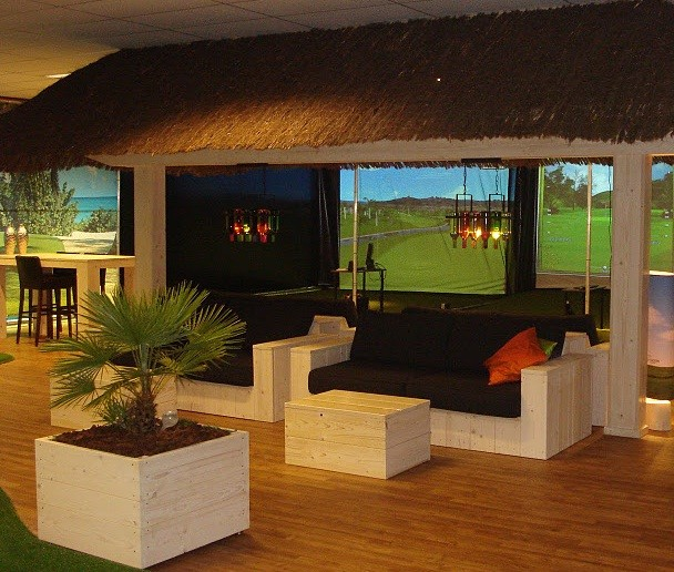 Golf Simulator for Home or Office - Tropical - Home Theatre ...