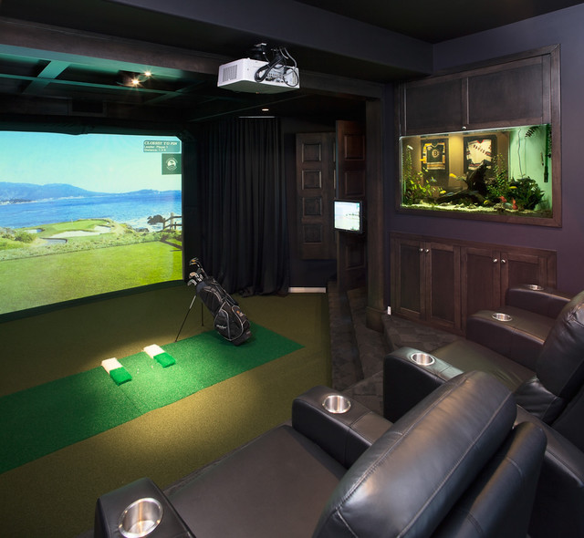 15 Professionally Made Home Theater Designs: Golf Simulators