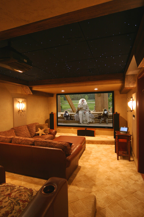 ... contemporary media room