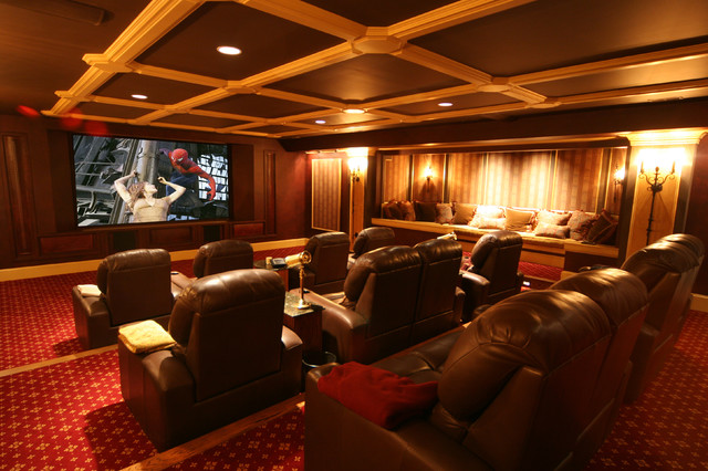 ... traditional media room