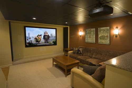 contemporary media room The Fifth Wall: Designing Your Ceiling