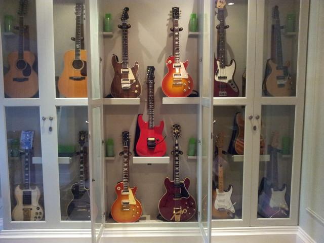 Guitar Storage : traditional home theater from www.houzz.com size 640 x 480 jpeg 81kB
