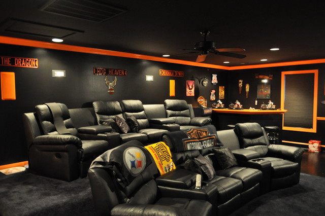 Harley Davidson Bar Stools >> Harley Davidson Themed Theater