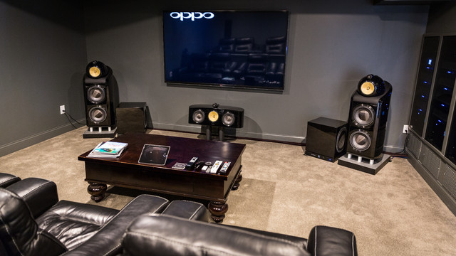 Inspiration For A Large Modern Home Theater Remodel In Cincinnati