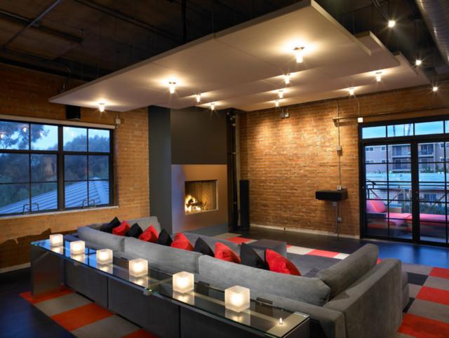 hillcrest urban loft moderne salle de cin ma san diego par bill bocken architecture. Black Bedroom Furniture Sets. Home Design Ideas