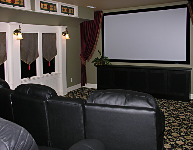 Historic Renovation traditional-home-theater
