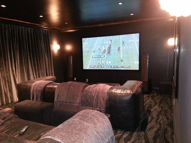 Hollywood Hills Theater Contemporary Home Theater