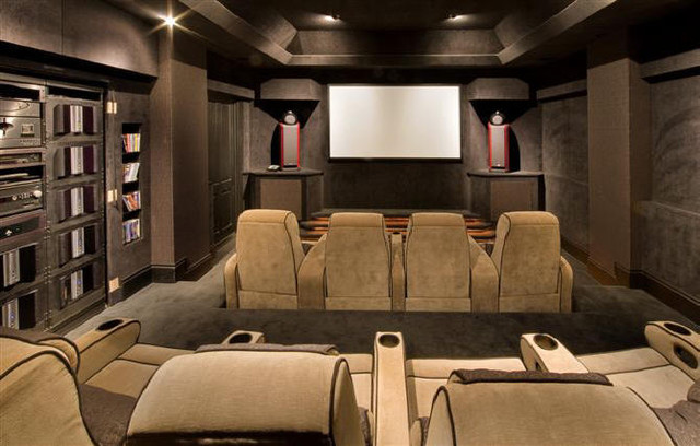 Home cinema modern home theater other metro by for Modern theater room