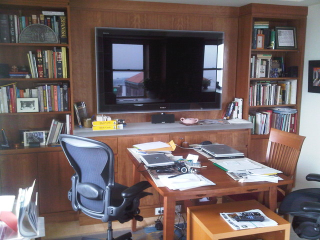 Home Office/Entertainment room wall panels and cabinets - Modern - Home Theater - new york - by ...